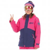 Picture Blouson Pearl Girl Kids Pink Dark Blue